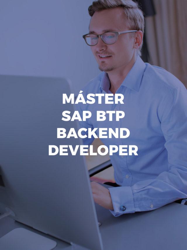 Máster SAP BTP backend developer