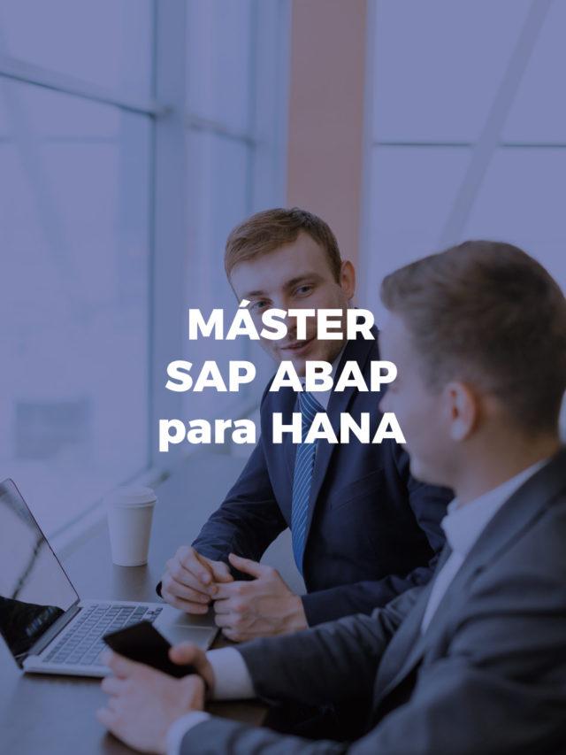 Máster SAP ABAP programación para HANA